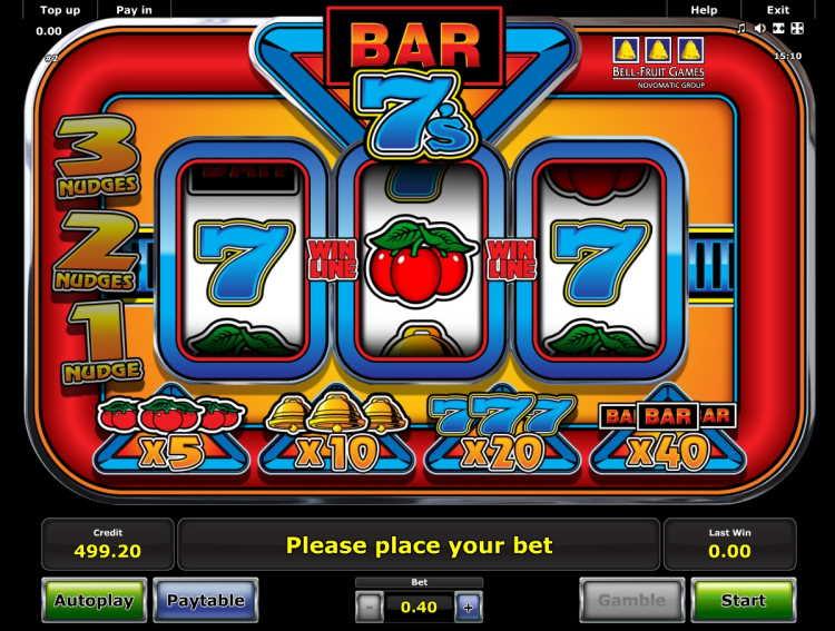 BARs and 7s Slot Machine